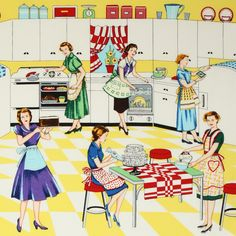 It's all in the day of a vintage housewife...
