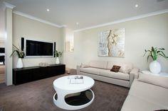 Spacious, open family living area