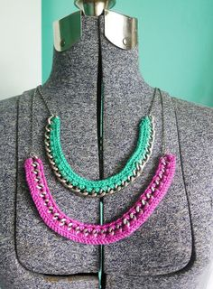 8 Great Modern Crochet Necklaces - Craftfoxes