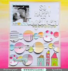 Isn't this confetti inspired layout that designer @mother0froyalty so pretty? She created this cuteness using the #july2016 #hipkits! @hipkitclub #hkcexclusives #exclusives #scrapbooking #circles #papercrafting #confetti #scrapbookingkitclub #kitclub #hipkitclub #ombre #layout