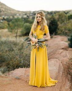 gorgeous yellow gown