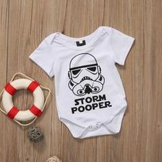 Cheap baby clothing, Buy Quality baby short sleeves jumpsuit directly from China sunsuit toddler Suppliers: Hot sales Toddler Baby Girls Boys Clothes Storm Pooper Short Sleeve Romper Jumpsuit Short Sleeve Sunsuit Baby Clothing Cotton Jumpsuit, Jumpsuit With Sleeves, Baby Girl Romper, Baby Boy Newborn, Baby Girls, Baby Onesie, Baby Outfits, Newborn Outfits, Star Wars Onesie