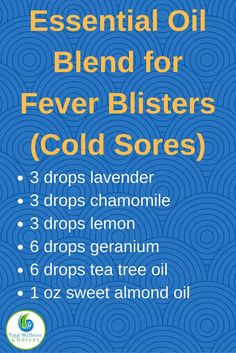Essential Oil Recipe for Cold Sores