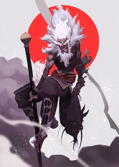 The monkey king, sunkist Lee on ArtStation at https://www.artstation.com/artwork/XJ0ry