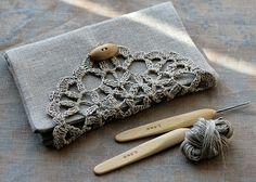 Linen Crochet Hook Case