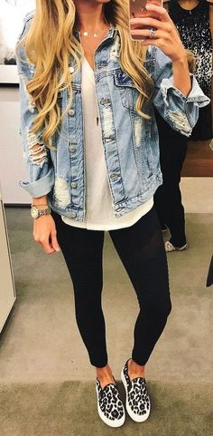 fall outfit ideas / denim jacket