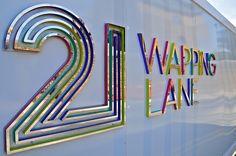 Ballymore Wapping Lane Lettering; London, UK