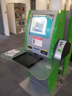 Library self-service checkout machine