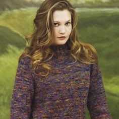 A simple tweed pullover to knit