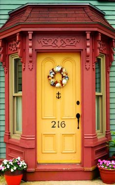 Lunenburg, Nova Scotia, Canada / view beautiful custom door hardware handcrafted by master artisans > https://balticacustomhardware.com/customdoorhardware/thumblatch-entry-sets.html