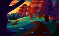 Adventure Time themed Environment by Chirko on DeviantArt