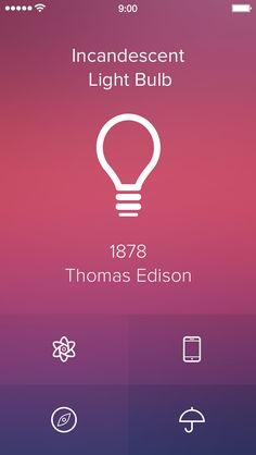 Diggin' the lightbulb, could do something similar in a filled style  Invention of the Day [iOS7 Edition] by Alexander Zaytsev
