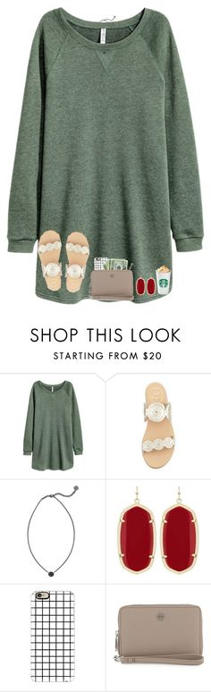 """""""give me the greenlight"""" by hailstails ❤ liked on Polyvore featuring Jack Rogers, Kendra Scott, Casetify and Tory Burch"""