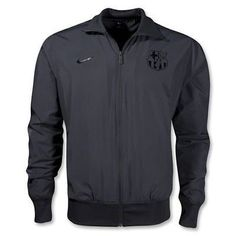 NIKE FC BARCELONA WOVEN LIGHTWEIGHT JACKET. Get dressed with Barça The FC Barcelona Jacket: Breathability and team pride The FC Barcelona Lightweight Woven Men's Soccer Jacket features signature team