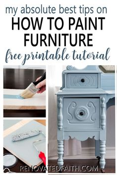 This checklist will show you the same process I use on every furniture piece I refinish and it's FREE! Whether you are refinishing a family antique or painting a roadside rescue, these simple tips will show you the fail-proof way to paint furniture that lasts! From putting paint brushes in your refrigerator to wearing your clothes inside out, these easy hacks that will make your next paint job your easiest one yet! Professional secrets for an amazingly smooth surface without brush strokes Glazing Furniture, Diy Furniture Projects, Paint Furniture, Furniture Makeover, Furniture Refinishing, White Washed Furniture, Distressed Furniture, Farmhouse Furniture, Repurposed Furniture