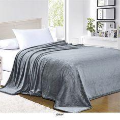 Luxury All-Season Ultra-Super Soft Velour Blanket - Assorted Colors