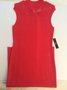 New York & Company Women's Sheath Dress Coral- Size Med    eBay
