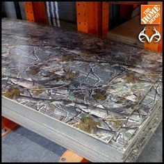 Camo wall paneling at home depot used for trailer table top Hunting Girls, Deer Hunting, Coyote Hunting, Pheasant Hunting, Turkey Hunting, Archery Hunting, Camo Rooms, Deer Camp, Mossy Oak Camo