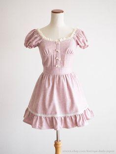 LIZ LISA Penderie Off-shoulder Ribbon OP Dress Romantic Lolita Japan #LIZLISAPenderie #TunicPeplum #Shibuya109Lolitafashion