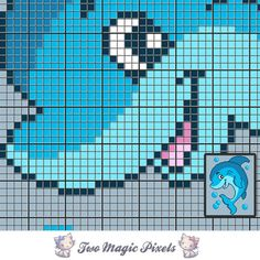 Playful Dolphin c2c graph crochet pattern; instant PDF download; baby blanket,