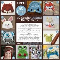 40 Fabulous and Free Crochet Animal Hat Patterns August 1, 2014 by Rhondda 9 Comments