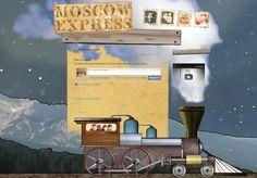 Website voor nederlandse conceptuele funk band Moscow Express