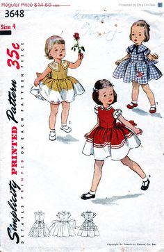25% Off UNCUT Vintage 1950's Simplicity Pattern 3648   by anne8865
