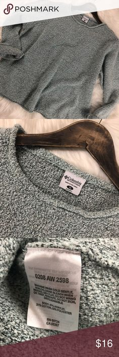 Cozy Columbia Sweater Light Blue & Black  Cozy Columbia Sweater Re-Posh  Due To The Boxy Fit Bust 23' Length 23' Columbia Tops Sweatshirts & Hoodies