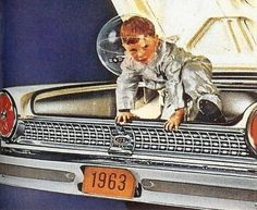 No idea what the larger context of this is... I'm guessing a magazine ad? Still, that's definitely a '63 Galaxie rear end!