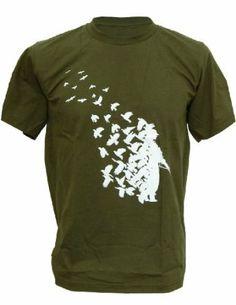 SODAtees Bird Hunter Sniper Peace Pigeon Soldier Men's T-SHIRT