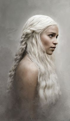 Stormborn - Flo Tucci. Game of thrones fanart wallpaper, Daenerys Targaryen, mother of dragons, khaleesi