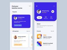 Course App Exploration designed by zakia kaidzan. Connect with them on Dribbble; App Ui Design, Mobile App Design, User Interface Design, Website Design Inspiration, Ui Inspiration, Tax App, Modern Website, Website Design Layout, Mobile App Ui