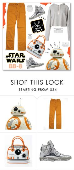 """""""Star Wars: The Force Awakens BB-8"""" by kellylynne68 ❤ liked on Polyvore featuring Faith Connexion, CJ by Cookie Johnson, Old Navy, Converse, starwars, contestentry and BB8"""