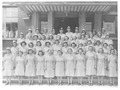 Tongres, Belgium. Nurses, Group Photo,, from 25th General Hospital: Courage & Skill in World War II -- for an exhibit highlighting movements, personal     narratives and medical contributions see http://digitalprojects.libraries.uc.edu/exhibits/25thGeneralHospital/;     for entire collection see http://digproj.libraries.uc.edu:8180/luna/servlet/s/4lcgzb; connect on Facebook and     share your own WWII General Hospital stories at http://www.facebook.com/UC25thGeneralHospital.