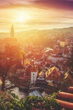 Český Krumlov, Czech Republic | Peter Zelei | denlArt