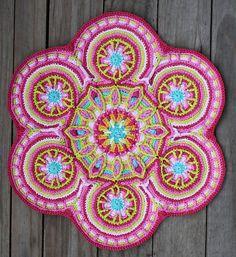 Crochet Overlay Mandala No. 3, Pattern PDF pattern 4 sale by CAROcreated design