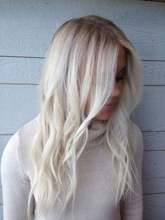 Ash white blonde