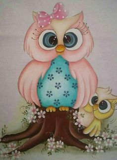 Owl Artwork, Owl Wallpaper, Owl Clip Art, Tole Painting Patterns, Owl Cartoon, Owl Pictures, Baby Owls, Cute Owl, Fabric Painting