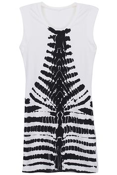 ROMWE | Injekt Skeleton White Sleeveless Shirt, The Latest Street Fashion #Romwe