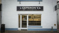 """Cameron's Chip Shop - our first stop on a rainy day in Stornoway.  """"Best chippy in town,"""" """"Lovely wee chip shop..."""""""
