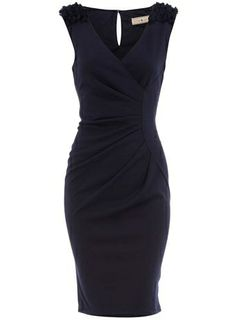 super cute navy dress! by leona