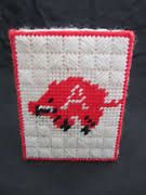Image result for Arkansas Razorbacks plastic canvas pattern