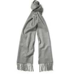 Turnbull & Asser gray cashmere scarf