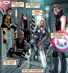 Children of The Avengers Avengers Names, Next Avengers, Young Avengers, Marvel Avengers, Marvel Dc Comics, Marvel Heroes, Henry Pym, Pawer Rangers, Die Rächer