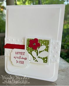 Wickedly Wonderful Creations Flower Birthday Cards, Flower Cards, Card Making Inspiration, Stamping Up, Greeting Cards Handmade, Homemade Cards, Stampin Up Cards, Cardmaking, Birthdays