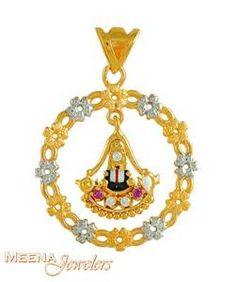 22k Gold Lord Balaji Pendant ( Ganesh, Laxmi and other God Pendants )