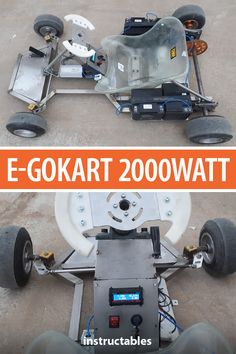 Design and make an 2000 watt E-GoKart with a brushless electric motor. Electric Kart, Electric Motor, Arduino Projects, Electronics Projects, Diy Electronics, Go Kart Plans, Diy Go Kart, Quad, Electrical Projects
