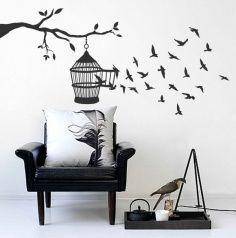 Creative Wall Decor, Home Wall Decor, Home Decor Furniture, Diy Room Decor, Tree Wall Art, Diy Wall Art, Wall Painting Decor, Bedroom Wall Designs, Wall Drawing