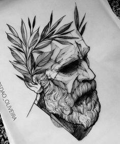 Zeus sketch tattoo d vme berlin istanbul blackwhite - Tatouage veni vidi vici ...