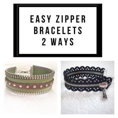 Time to get crafty today on Smiles and Sundays with zipper bracelets. These are an easy way to add a little style and �edge� to your favorite outfit. I�ve seen these in stores for over� View Post